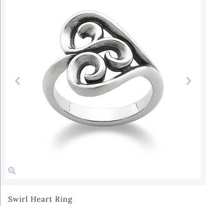 James Avery Swirl heart ring (retiring)